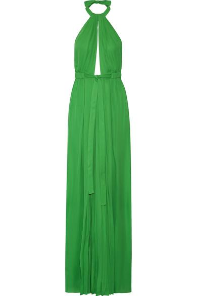 Pleated silk halterneck gown, Emilio Pucci