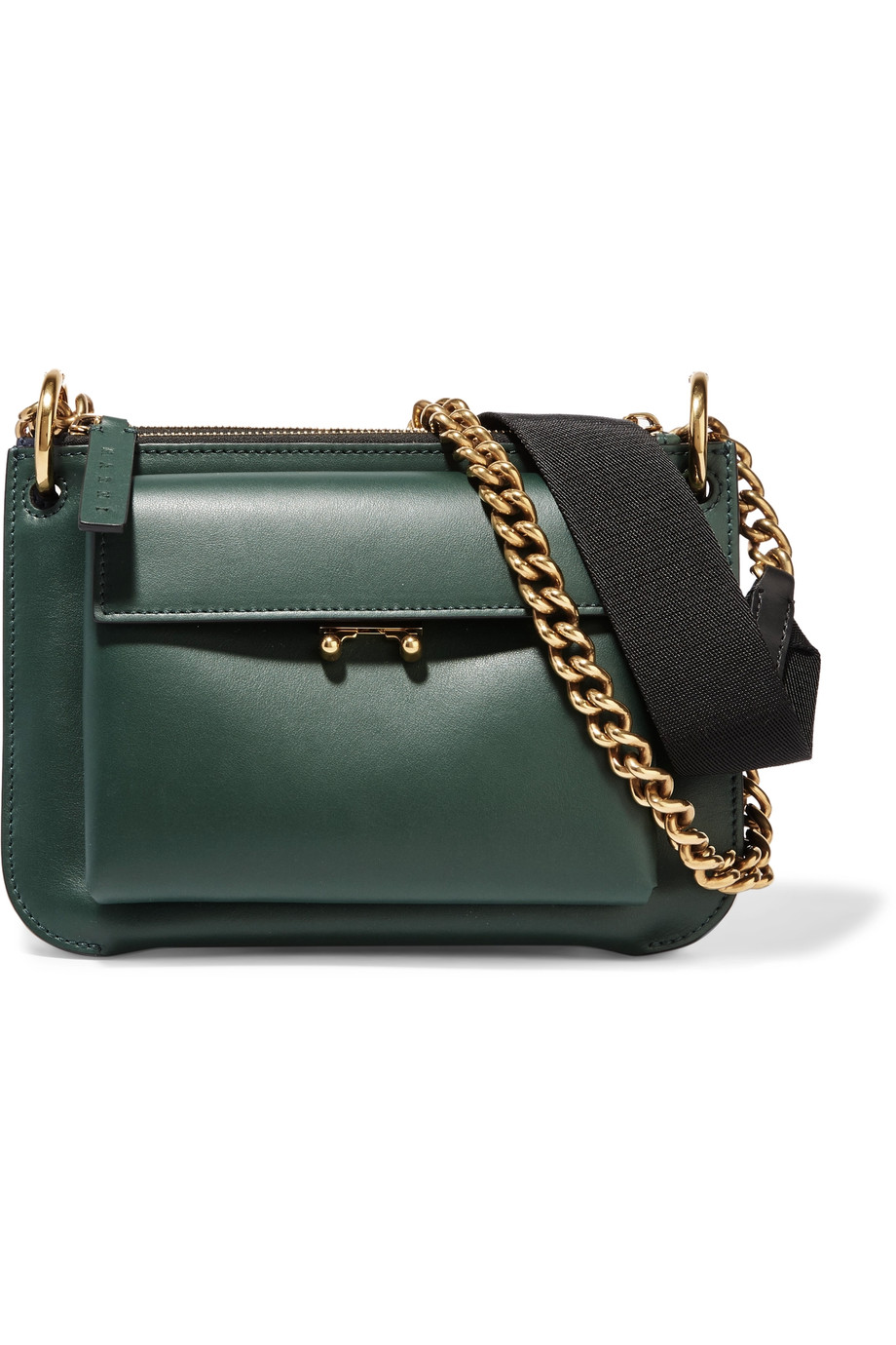 Pocket two-tone leather shoulder bag, Marni