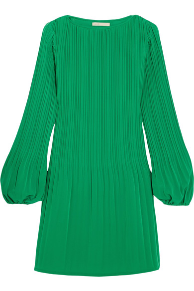 Pleated crepe mini dress, Maje