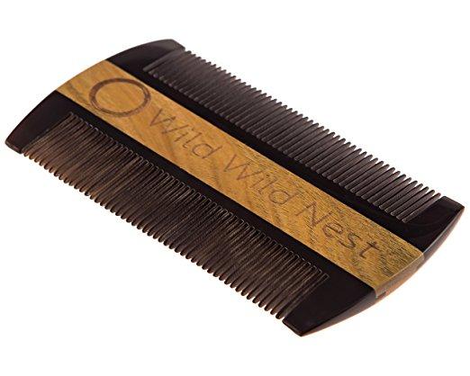Pocket Size Buffalo Horn Beard Comb