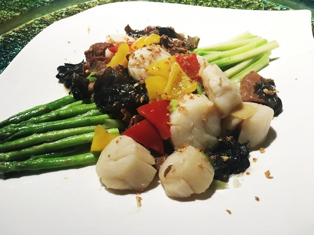Stir fried Fresh Scallop with Two Kinds of Fungus