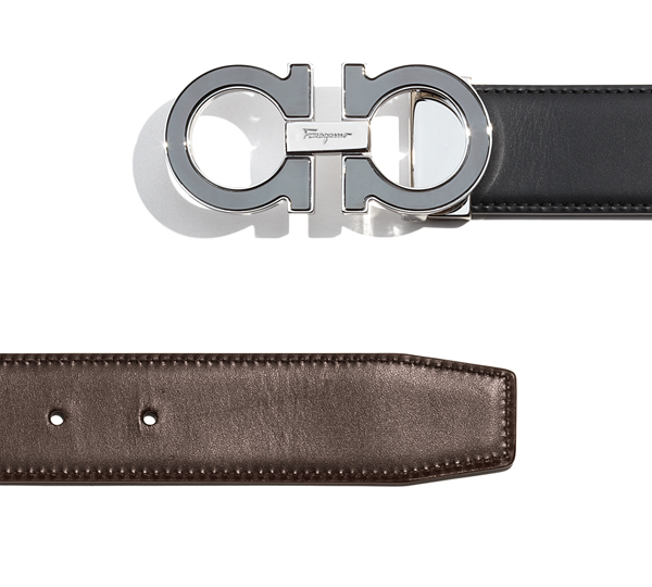 Double Gancini Buckle Belt, Salvatore Ferragamo