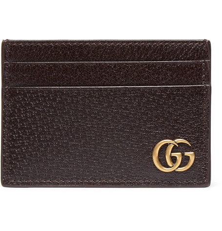 Textured-Leather Cardholder, Gucci