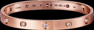 Love Bracelet, 10 Diamonds, Cartier