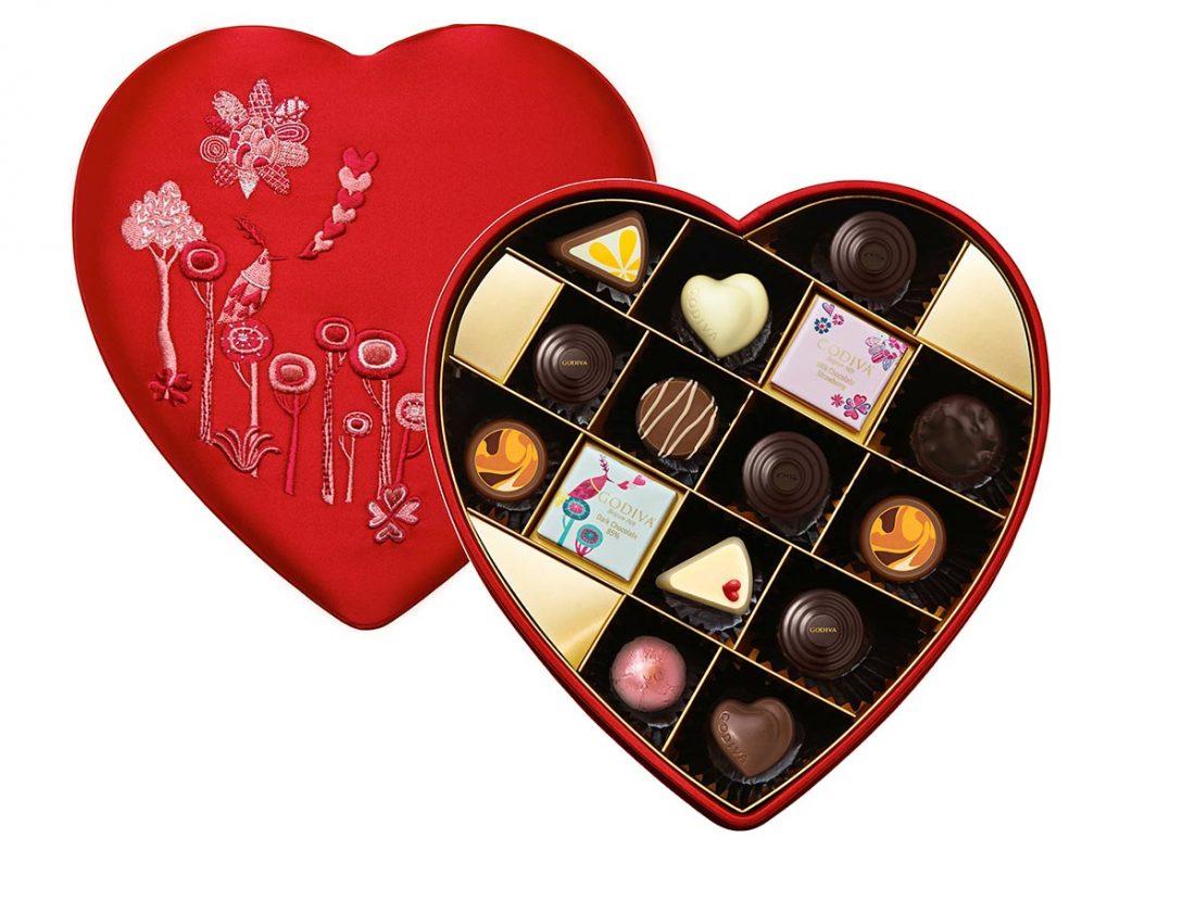 Romantic Chocolate Heart box, Godiva
