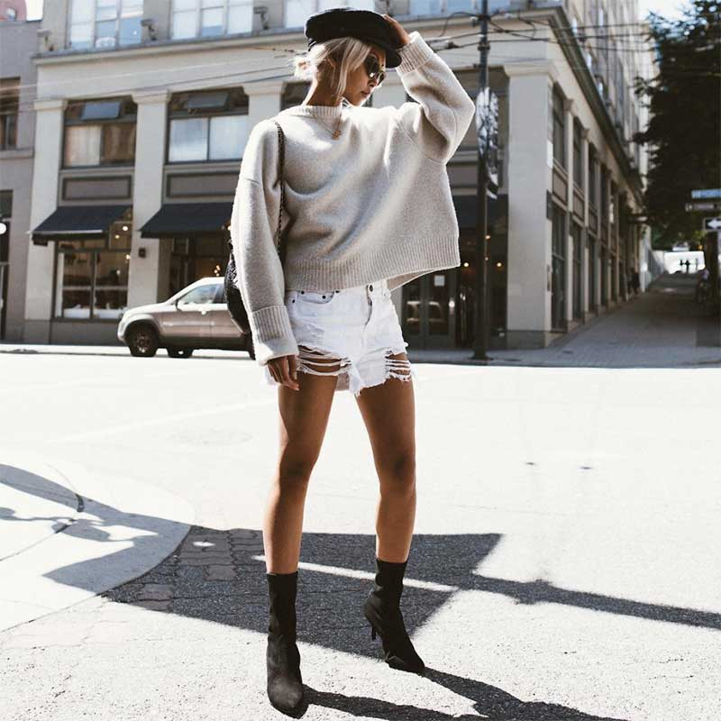 Style it with: A pair of boots for a tinge of edginess