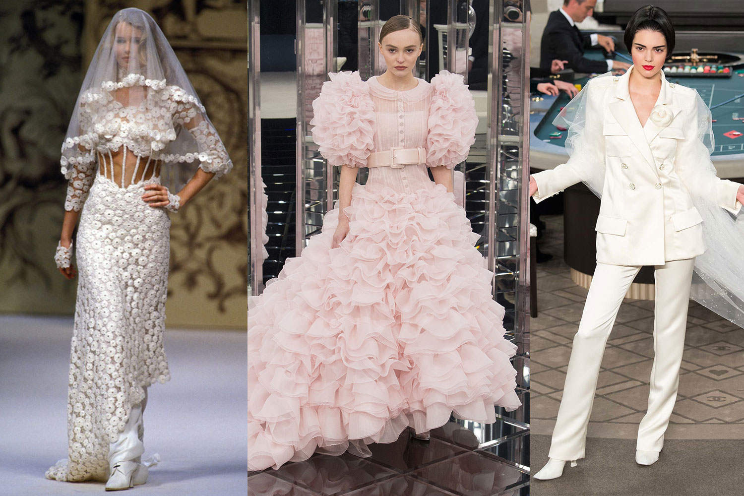 Fashion Flashback Chanel Couture Wedding Dresses And Brides