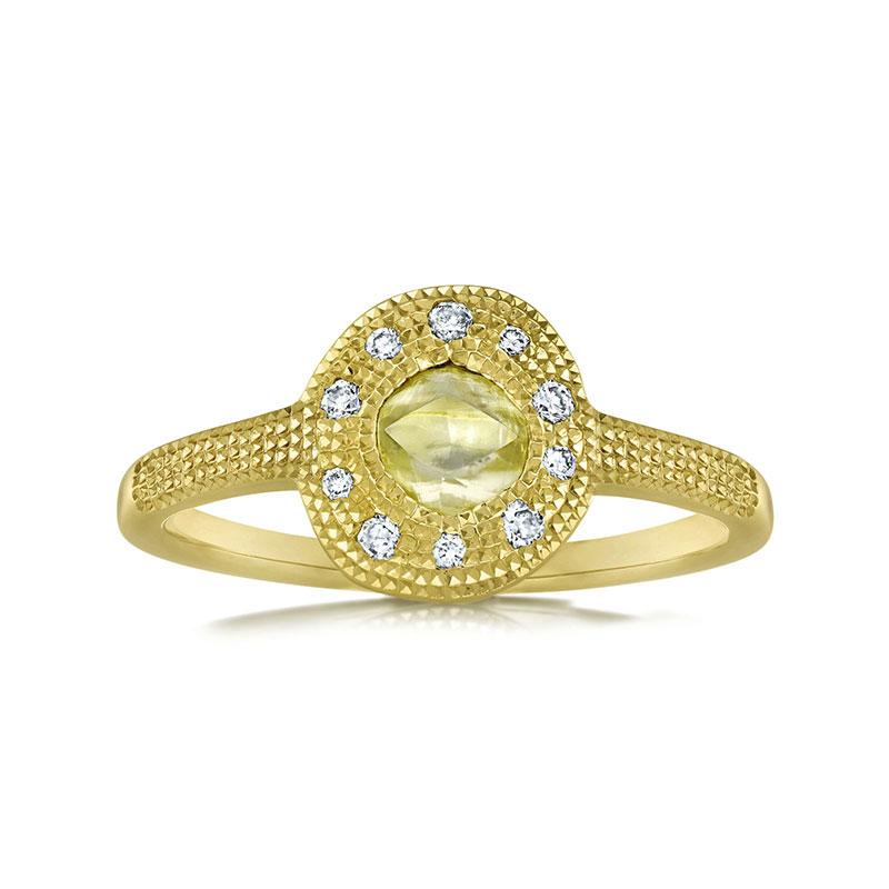 De Beers Talisman solitaire diamond ring