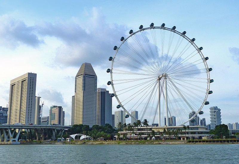 Largest ferris wheel in Asia - Singapore Flyer