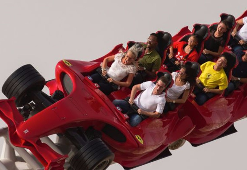 Fastest roller coaster in the world - Formula Rossa, Ferrari World Abu Dhabi