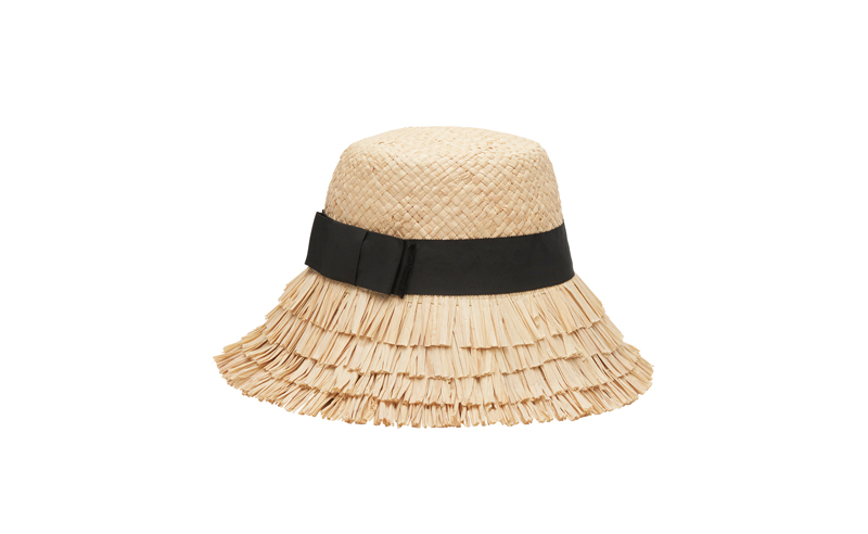 Layered Raffia Hat Straw