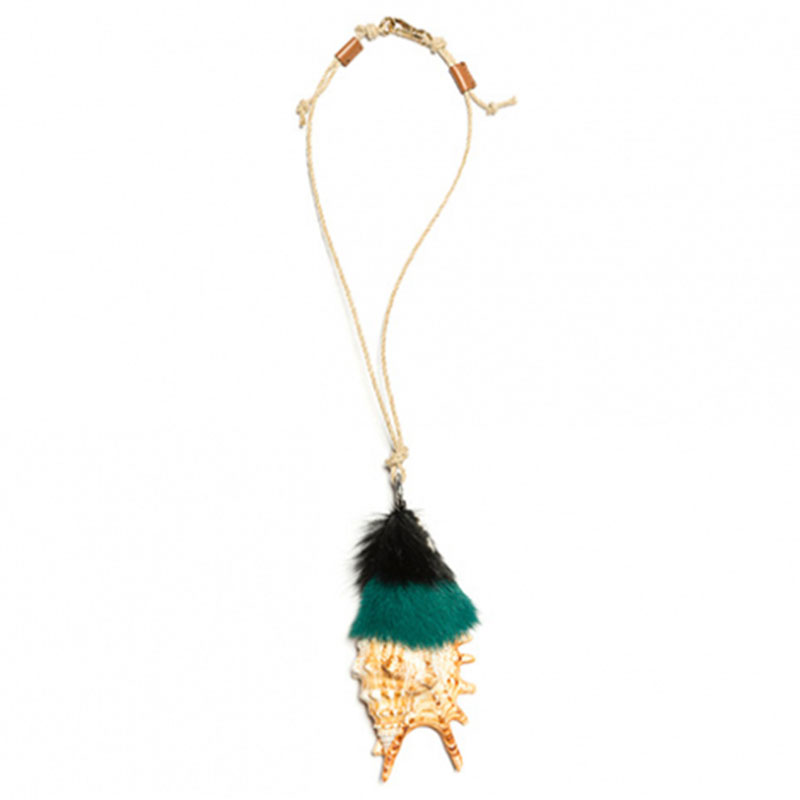 Prada Talisman shell necklace