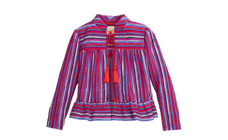 Textured Plead Peplum Jacket