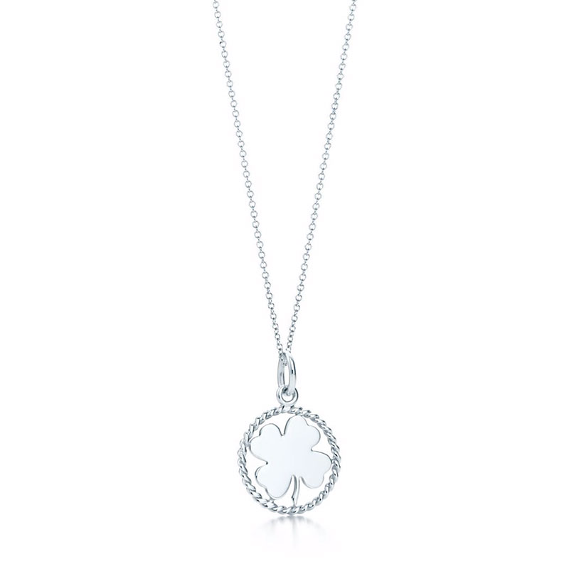 Tiffany & Co. Tiffany Twist clover charm and chain in sterling silver
