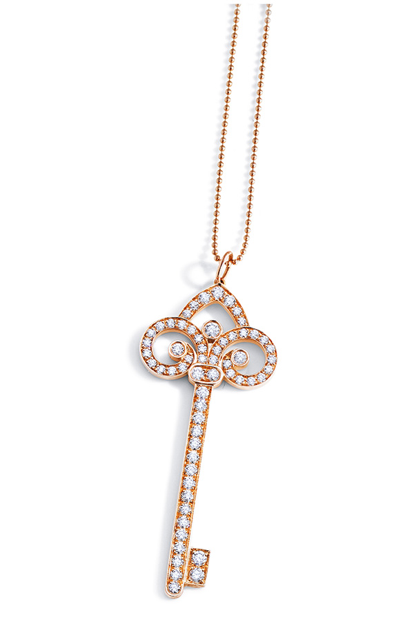 Tiffany & Co. Fleur De Lis Key Pendant