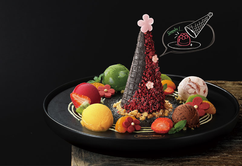 For the sweet tooth: Häagen Dazs Festive Flower Mochi Tree