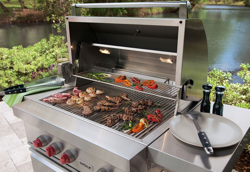 "Sub-Zero & Wolf 36"" outdoor gas grill"