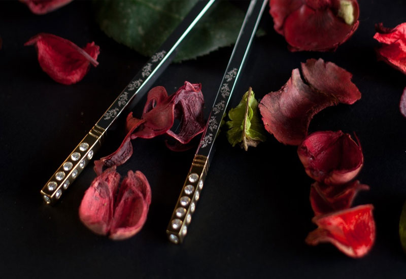 Bespoke diamond chopsticks