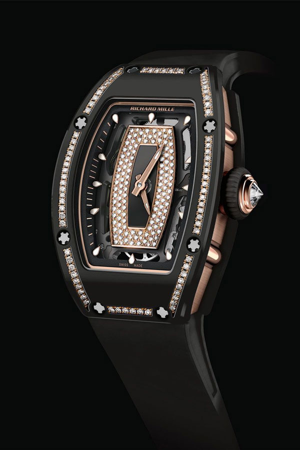 Richard Mille RM 07-01 In Gem-Set Black Ceramic