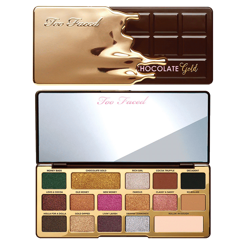Too Faced Chocolate Gold Metallic/Matte Eye Shadow Palette