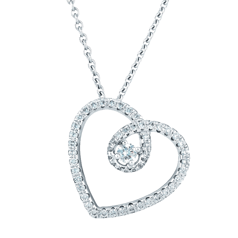 De Beers MicroPave White Gold Pendant