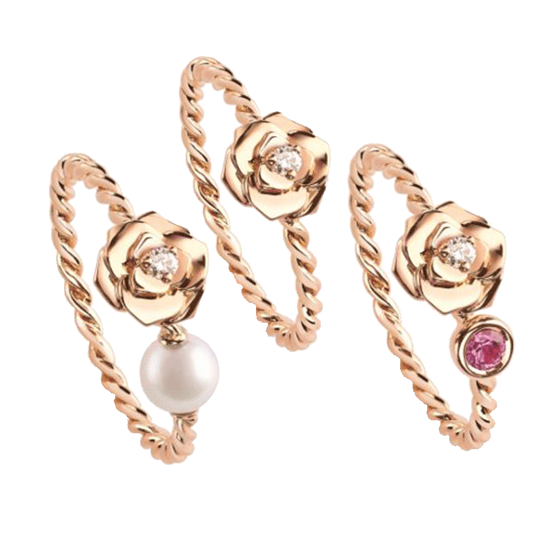 Piaget Rose rings