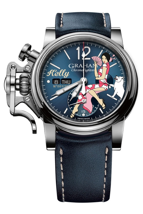 Graham Chronofighter Vintage Nose Art Kelly
