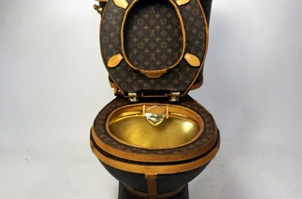 23ad2ec1e381 This Louis Vuitton toilet can be yours for  100