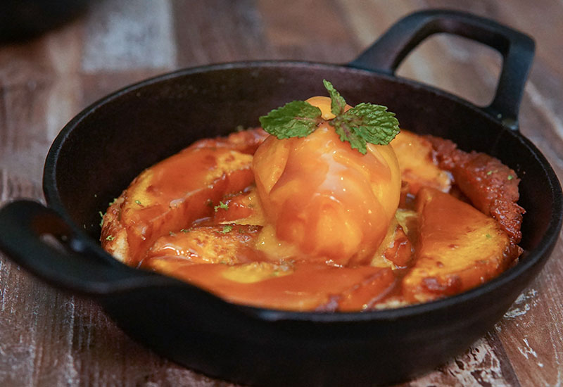 Dessert: Mango Tarte Tatin