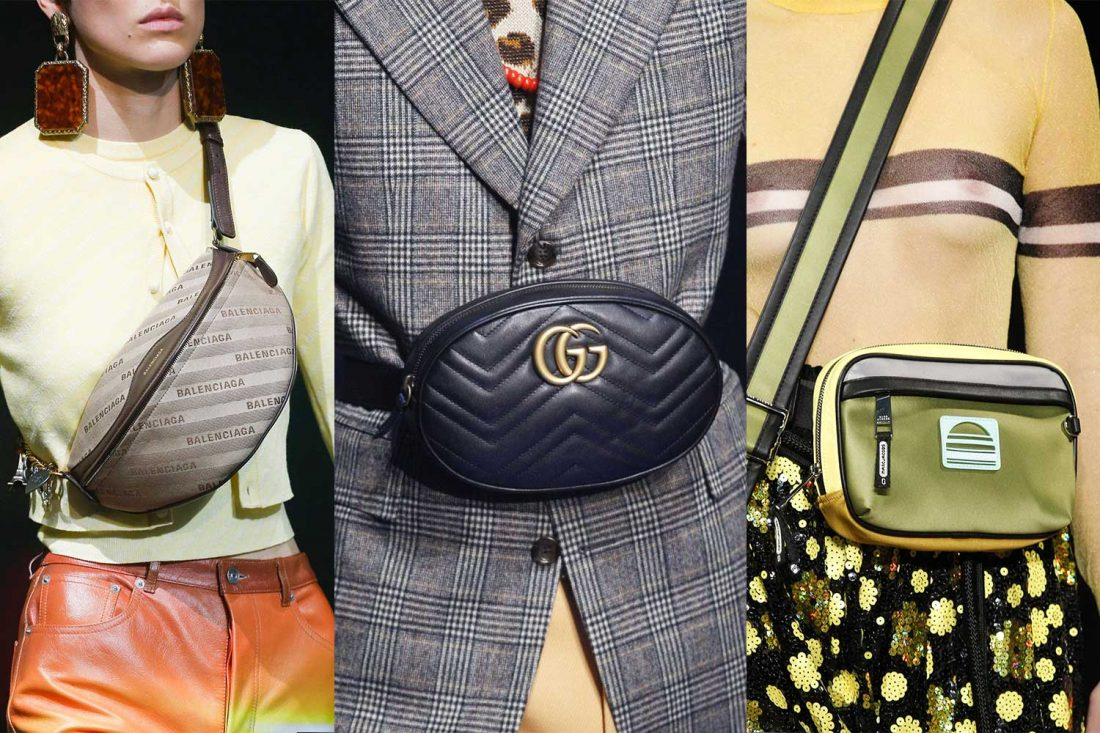 907579f1c574 The belt bag trend as seen on the SS18 runways of Balenciaga, Gucci and  Marc Jacobs.