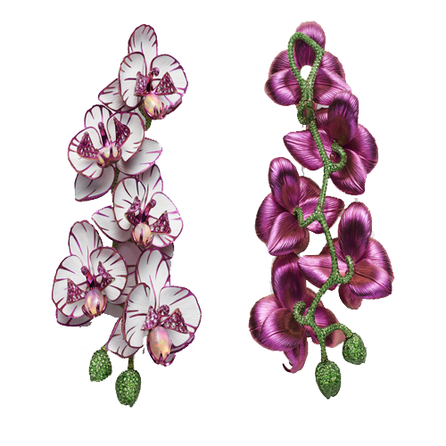 Chopard Red Carpet Collection 2018 orchid earrings