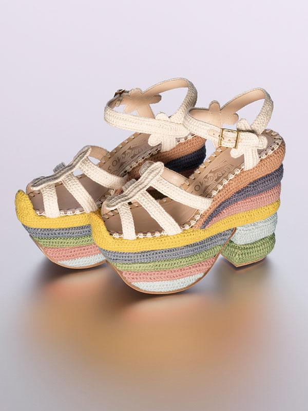 2f8e8ccf9f The Rainbow Future sandal is Salvatore Ferragamo s first sustainable ...