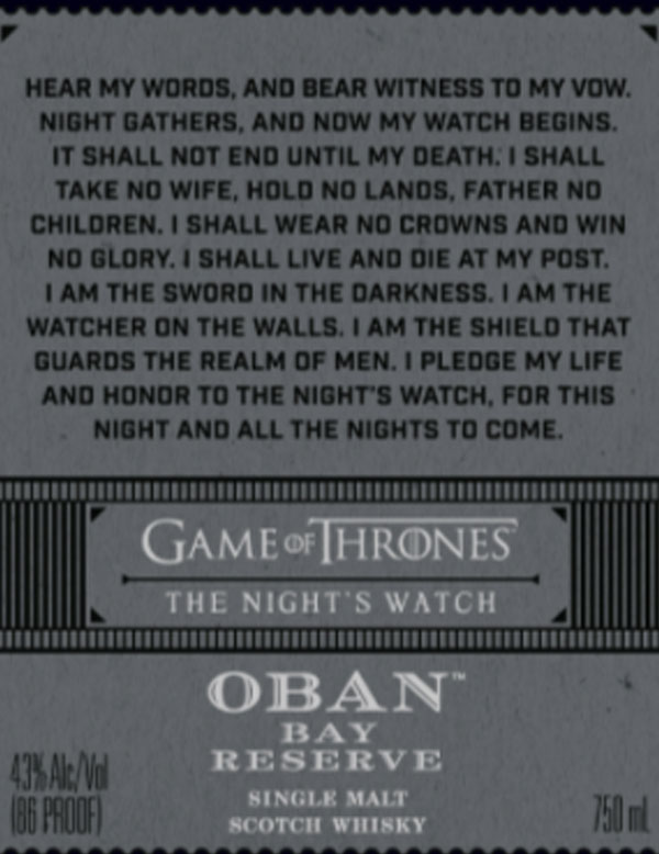 The Night's Watch: Oban Bay Reserve