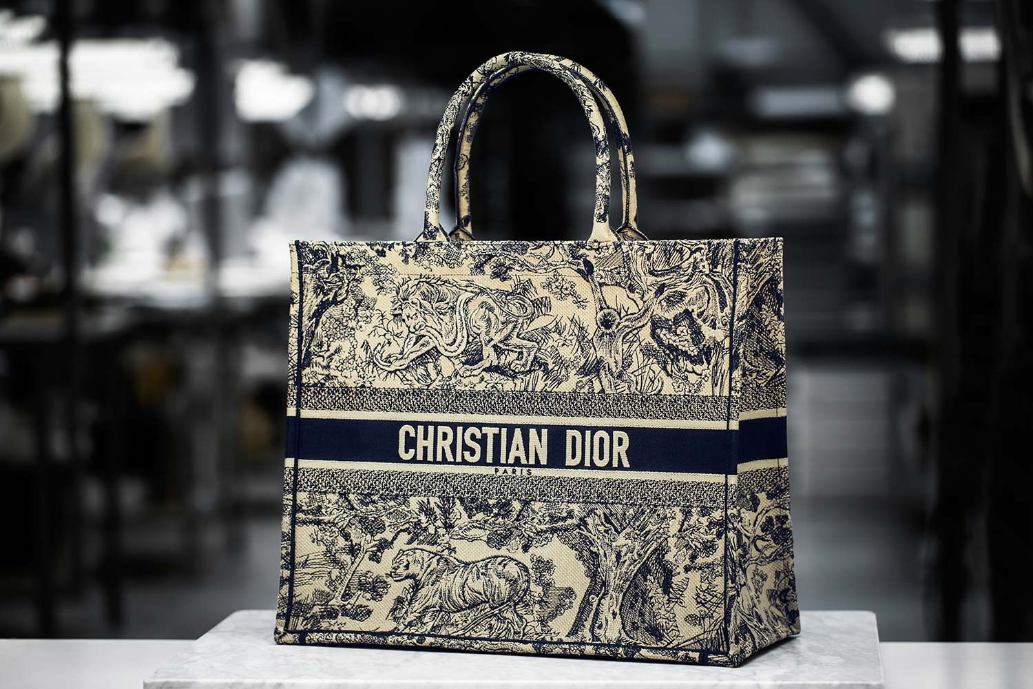 22bb2e902b18 Discover the making of The Dior Book Tote in toile de Jouy
