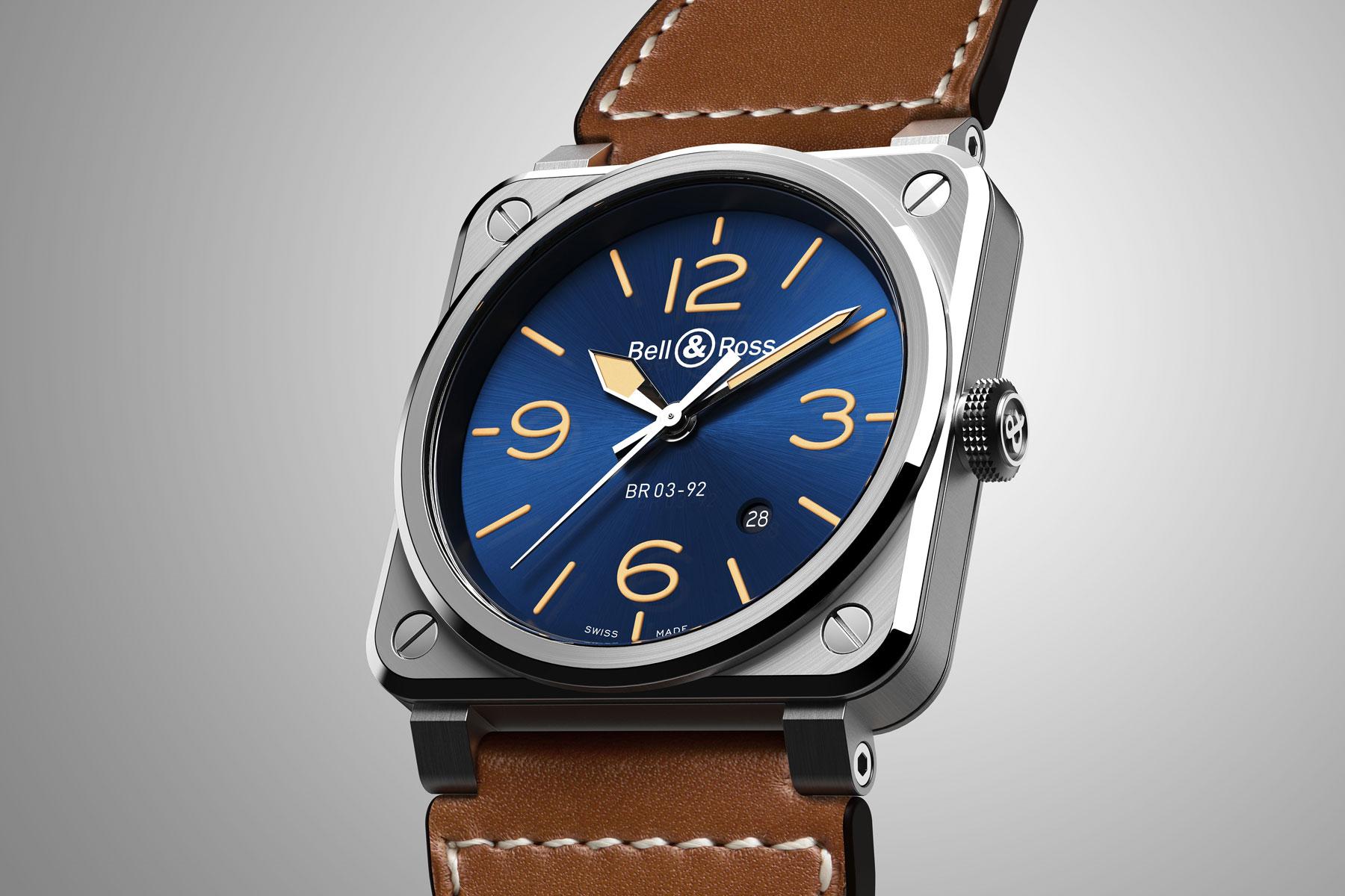Bell & Ross BR 03-92 Blue Golden Heritage