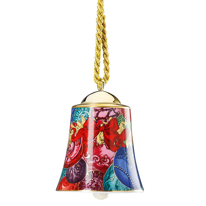Versace Reflection of Holidays Bell Ornament