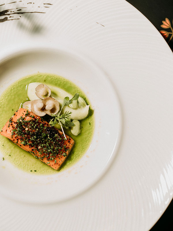 Petuna Ocean Fish Trout with Watercress and Kelp