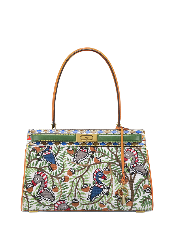 Tory Burch Needlepoint Small Satchel