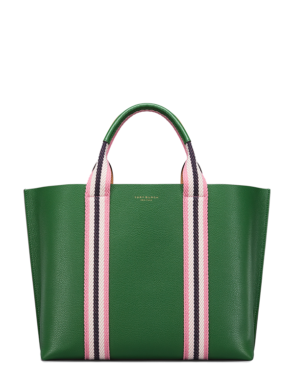 Tory Burch Multi Stripe Triple Compartment Tote