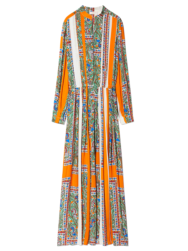Tory Burch Printed Long Sleeve Dress