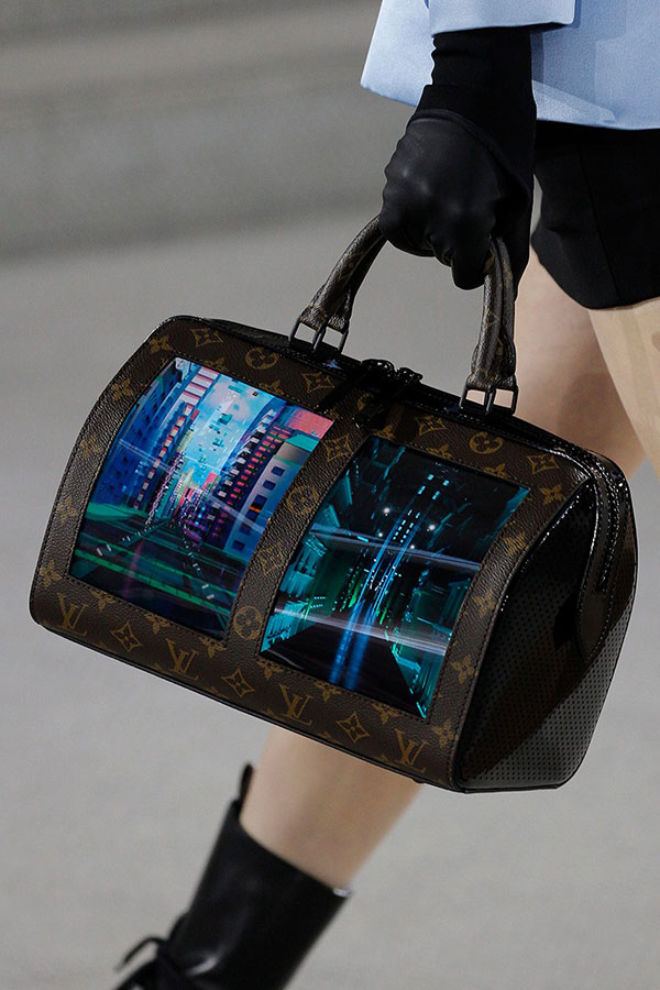 796d47bf1b1703 Louis Vuitton landed its Cruise 2020 show at the historic TWA Flight Center  last week, showcasing a collection evoking time travel with a melange of  leather ...