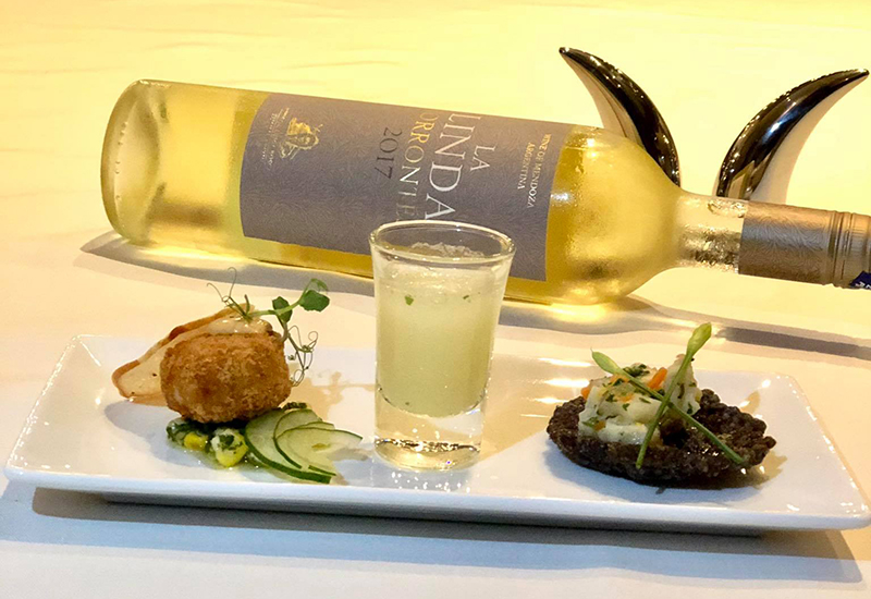 Seafood Croquettes served with Greek Yoghurt Pesto and Japanese Cucumber Salad