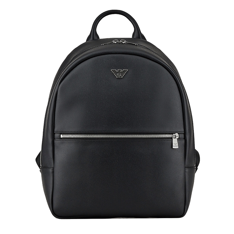 Emporio Armani backpack with eagle logo plate