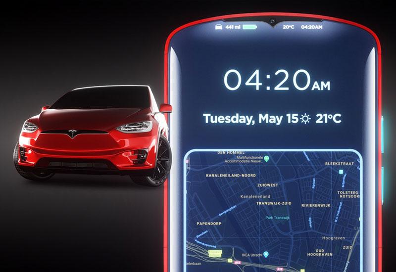 Tesla Model P smartphone concept