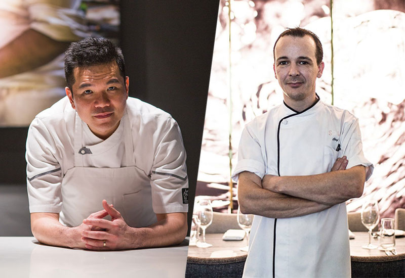 Chefs Darren Chin and Evert Onderbeke teamed up for a Les Copains four hands dinner