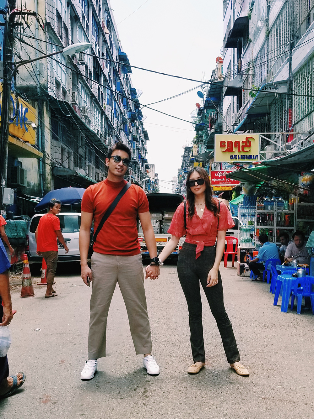 Aiman Hakim and Zahirah Macwilson in Yangon