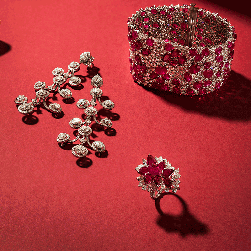 HABIB Ruby and Diamond set
