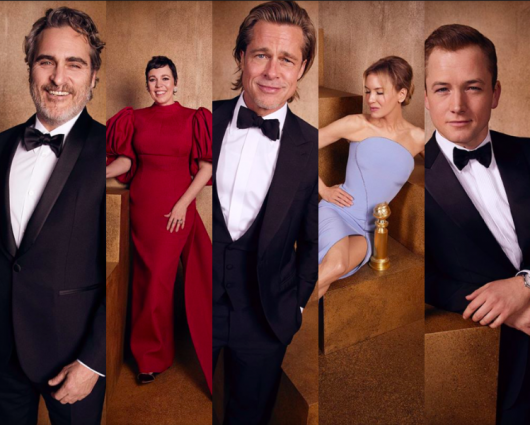 Golden Globes winners official portraits