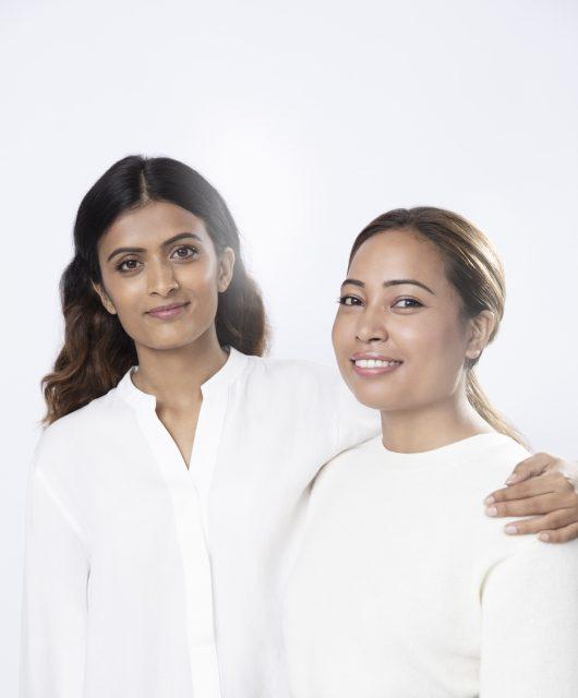 Ms. Pratiksha Pandey (L) and Ms. Binita Shrestha (R), 2020 Award Recipients of the 'Power of Radiance Awards'
