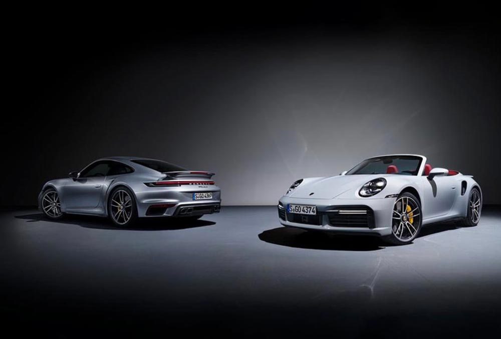 The 2021 Porsche 911 Turbo S Coupe and Cabriolet variants
